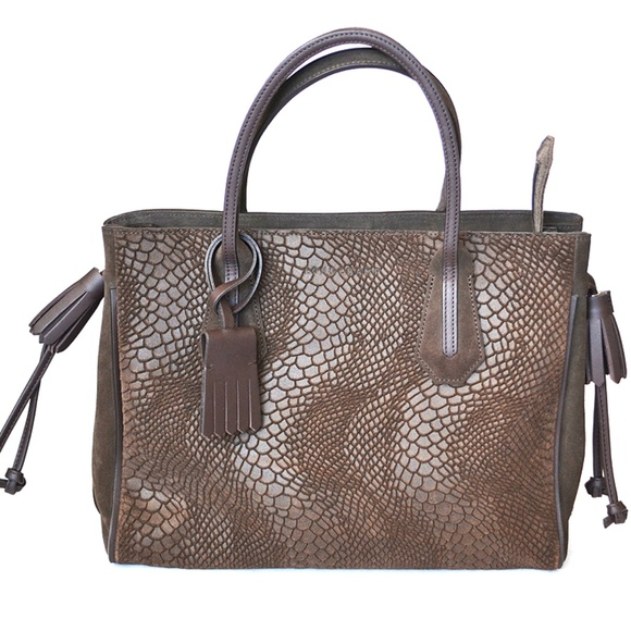 1e108300d874 Longchamp Penelope Python Tote Bag Handbag Purse